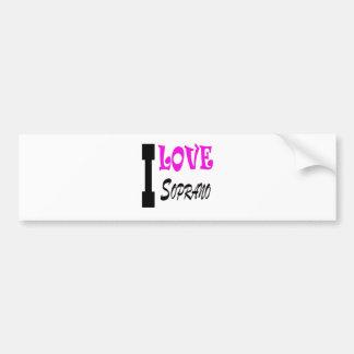 I Love soprano Bumper Sticker