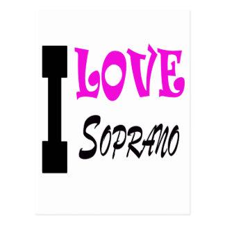I Love soprano Post Card