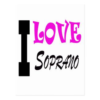 I Love soprano Post Cards