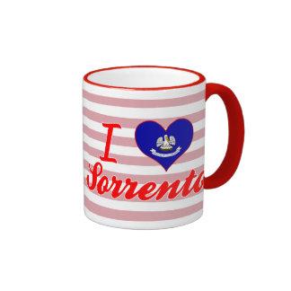 I Love Sorrento, Louisiana Ringer Coffee Mug