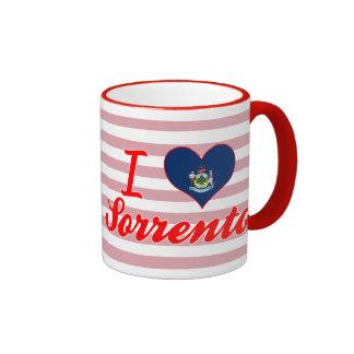 I Love Sorrento, Maine Ringer Coffee Mug