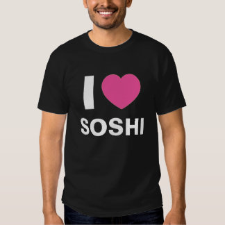 I Love Soshi T Shirt (Black)