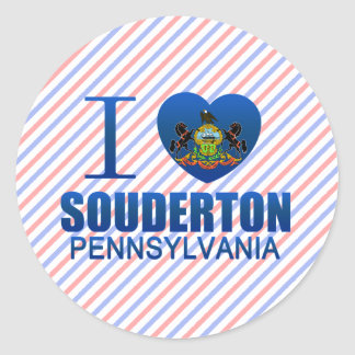 I Love Souderton, PA Round Sticker