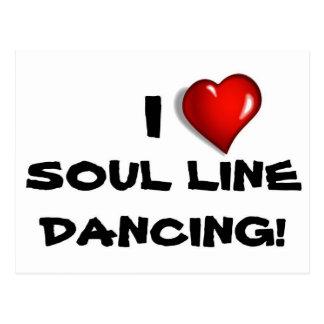 I Love Soul Line Dancing! Postcard