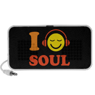 I love soul music smiley with headphones speakers