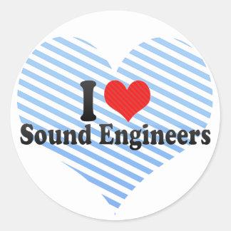 I Love Sound Engineers Sticker