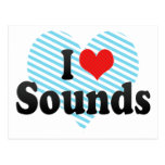 I Love Sounds Post Card