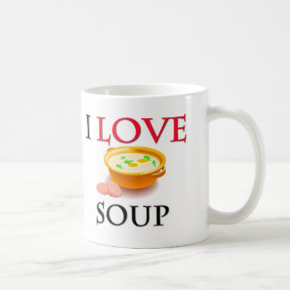 I Love Soup Classic White Coffee Mug