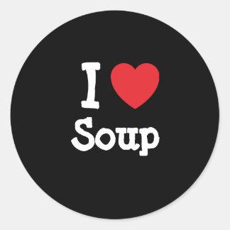I love Soup heart T-Shirt Sticker