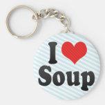 I Love Soup Key Chains
