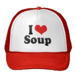 I Love Soup Mesh Hats