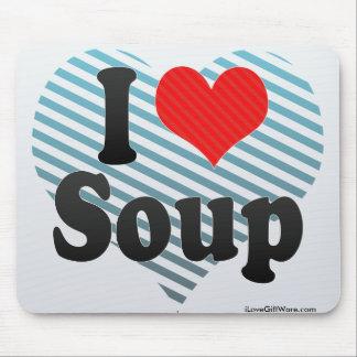 I Love Soup Mouse Pad