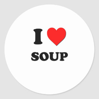 I love Soup Round Sticker