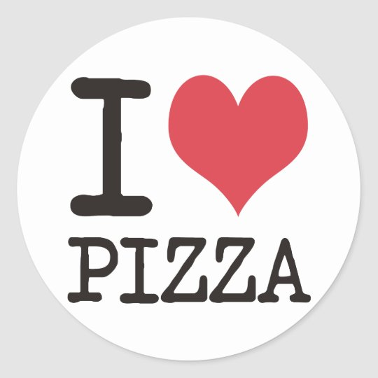 I love Soup - Vegetarian - Pizza Products! Classic Round Sticker