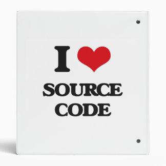 I love Source Code 3 Ring Binder