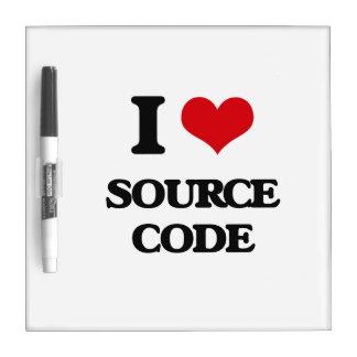 I love Source Code Dry Erase Board