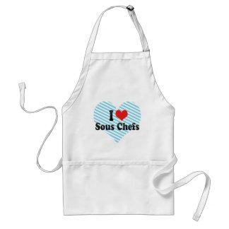I Love Sous Chefs Adult Apron