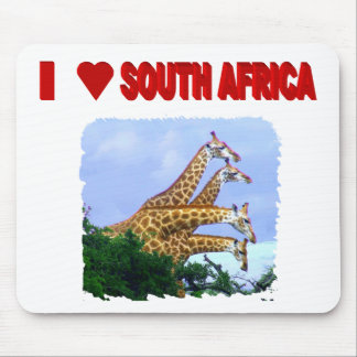 I Love South Africa 4 Giraffes Mouse Pad