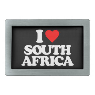 I LOVE SOUTH AFRICA BELT BUCKLE