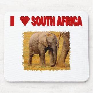 I Love South Africa Elephant Calf Mouse Pad