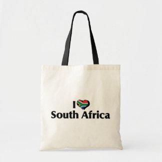 I Love South Africa Flag Tote Bag