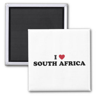I Love South Africa 2 Inch Square Magnet