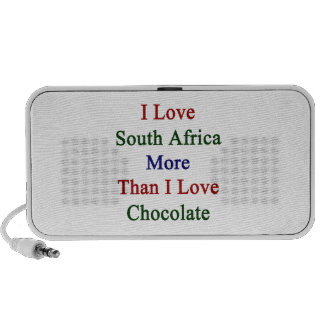 I Love South Africa More Than I Love Chocolate Travelling Speakers
