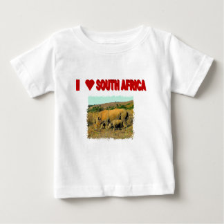I Love South Africa Rhinos and reeds Baby T-Shirt