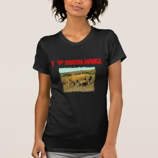 I Love South Africa Rhinos and reeds T-Shirt