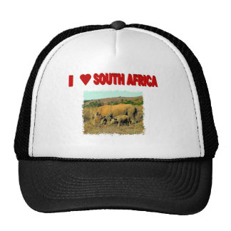 I Love South Africa Rhinos and reeds Trucker Hat