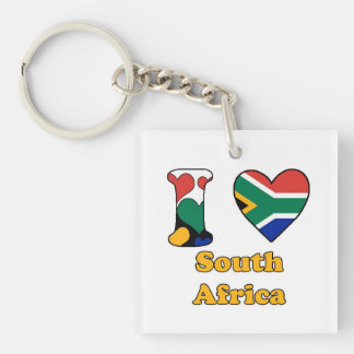 I love South Africa Single-Sided Square Acrylic Keychain