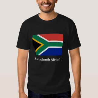 I love South Africa! Text on back Shirt