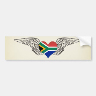 I Love South Africa -wings Bumper Stickers