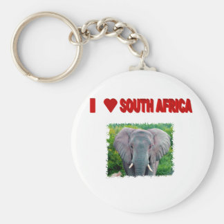 I Love South Africa Young Elephant Basic Round Button Keychain