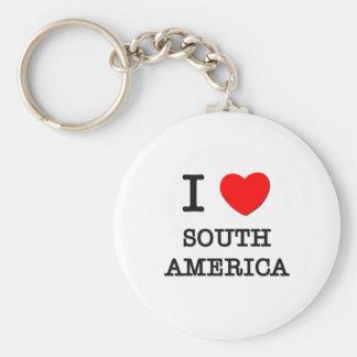 I Love South America Basic Round Button Keychain