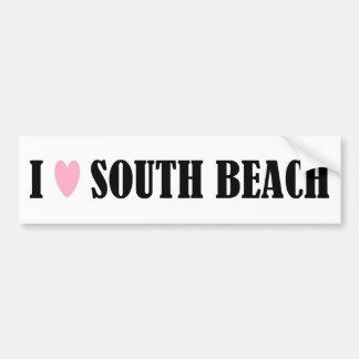 I LOVE SOUTH BEACH BUMPER STICKER