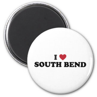 I Love South Bend Indiana 2 Inch Round Magnet
