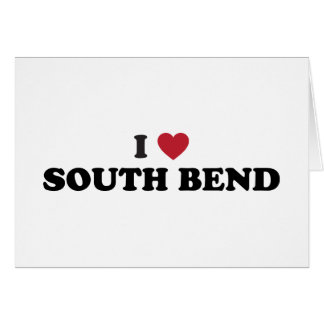 I Love South Bend Indiana Greeting Card