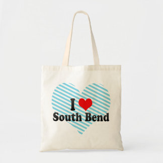 I Love South Bend, United States Budget Tote Bag