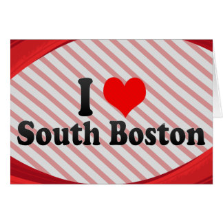 I Love South Boston, United States Stationery Note Card