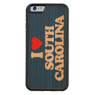 I LOVE SOUTH CAROLINA CARVED CHERRY iPhone 6 BUMPER CASE
