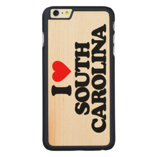 I LOVE SOUTH CAROLINA CARVED MAPLE iPhone 6 PLUS SLIM CASE
