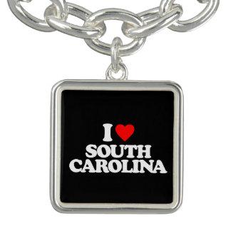 I LOVE SOUTH CAROLINA CHARM BRACELET