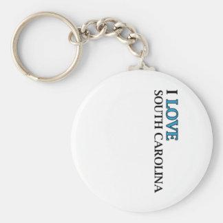 I Love South Carolina Design Keychain