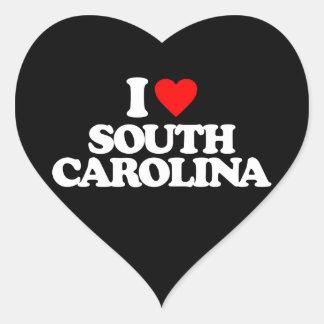 I LOVE SOUTH CAROLINA HEART STICKER