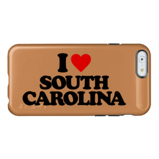 I LOVE SOUTH CAROLINA INCIPIO FEATHER SHINE iPhone 6 CASE