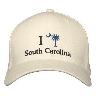 I Love South Carolina Palmetto Embroidered Hat