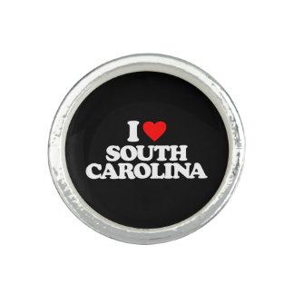 I LOVE SOUTH CAROLINA RINGS