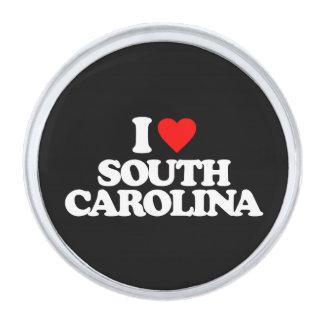 I LOVE SOUTH CAROLINA SILVER FINISH LAPEL PIN