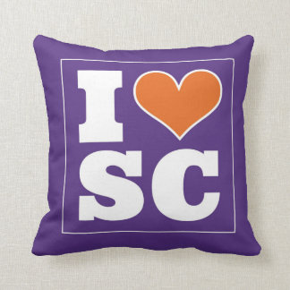 I Love South Carolina Throw Pillow
